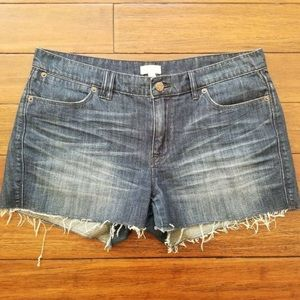 J. Crew Raw Hem Denim Shorts